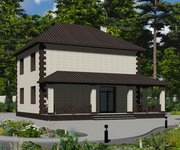 Проект кирпичного дома ГБ-170, площадь 170 кв.м - вид 4