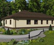 Проект одноэтажного кирпичного дома ГБ-223, площадь 223 кв.м - вид 4