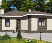 Проект одноэтажного кирпичного дома ГБ-171, площадь 171 кв.м - вид 4
