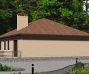 Проект одноэтажного кирпичного дома с гаражом ГБ-165, площадь 165 кв.м - вид 4