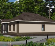 Проект кирпичного одноэтажного дома ГБ-160, площадь 160 кв.м - вид 4