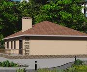 Проект одноэтажного кирпичного дома ГБ-128, площадь 128 кв.м - вид 4