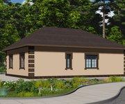 Проект кирпичного дома ГБ-123, площадь 123 кв.м - вид 4