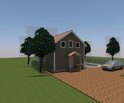 Проект дома Дачный-36 из профилированного бруса 6х6 м - вид 1