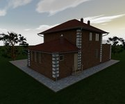 """Проект дома ГБ-181 """"Светлана"""" с гаражом, верандой и котельной, площадь 181 кв.м - вид 1"""