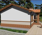 Проект кирпичного дома ГБ-70, площадь 70 кв.м - вид 1