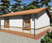 Проект кирпичного дома ГБ-70, площадь 70 кв.м - вид 2