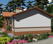 Проект кирпичного дома ГБ-70, площадь 70 кв.м - вид 3