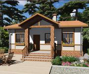Проект кирпичного дома ГБ-70, площадь 70 кв.м - вид 4