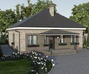 Проект одноэтажного кирпичного дома ГБ-91, площадь 91 кв.м - вид 2