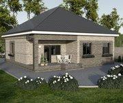Проект кирпичного дома ГБ-97 - вид 1