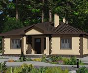 Проект кирпичного дома ГБ-153, площадь 153 кв.м - вид 1