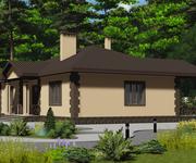 Проект кирпичного дома ГБ-153, площадь 153 кв.м - вид 2