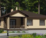 Проект кирпичного дома ГБ-153, площадь 153 кв.м - вид 3
