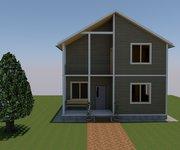 Проект дома ПБ-126 из профилированного бруса, площадь 126 кв.м - вид 2
