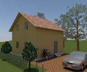 Проект дома ПБ-98 из профилированного бруса 7х7 м - вид 1
