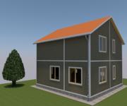 Проект дома ПБ-126 из профилированного бруса, площадь 126 кв.м - вид 1