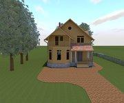 Проект каркасного дома КЩ-133, площадь 133 кв.м - вид 1