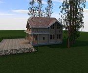 Проект дома БЦ-200 из оцилиндрованного бревна, площадь 200 кв.м - вид 2