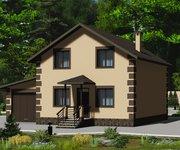 Проект каменного дома ГБ-115 с гаражом, площадь 115 кв.м - вид 1