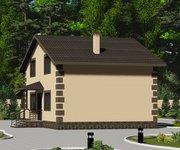 Проект каменного дома ГБ-115 с гаражом, площадь 115 кв.м - вид 2