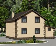 Проект каменного дома ГБ-115 с гаражом, площадь 115 кв.м - вид 3