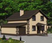 Проект каменного дома ГБ-115 с гаражом, площадь 115 кв.м - вид 4