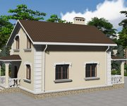 Проект каменного дома с мансардой ГБ-107 - вид 1