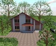 Проект дома ГБ-149 из кирпича, площадь 149 кв.м - вид 1