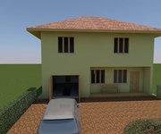 Проект дома ГБ-160 из газосиликатных блоков с гаражом, площадь 128 кв.м + 32 кв.м - вид 1