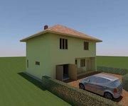 Проект дома ГБ-160 из газосиликатных блоков с гаражом, площадь 128 кв.м + 32 кв.м - вид 2