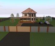 Проект кирпичного дома К-260, площадь 260 кв.м - вид 1