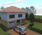 Проект каркасного дома КЩ-155, площадь 155 кв.м - вид 2