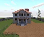 Проект трехэтажного кирпичного дома К-462, 462 кв м - вид 1