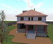 Проект трехэтажного кирпичного дома К-462, 462 кв м - вид 2