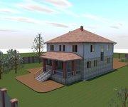 Проект трехэтажного кирпичного дома К-462, 462 кв м - вид 3