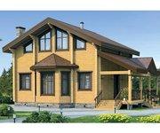 Проект дома БК-137 из клееного бруса, площадь 137кв.м - вид 1
