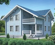 Проект дома БО-160 из профилированного бруса, площадь 160 кв.м - вид 1