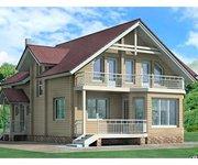 Проект дома БО-169 из профилированного бруса, площадь 169 кв.м - вид 1