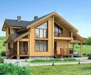 Проект дома БП-133 из профилированного бруса, площадь 150 кв.м - вид 1