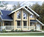 Проект дома БП-142 из профилированного бруса, площадь 142 кв.м - вид 1