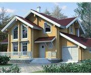 Проект дома БП-143 из профилированного бруса, 143кв.м. - вид 1