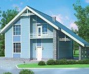 Проект дома ГБ-180 из газосиликатных блоков, 180кв.м. - вид 1