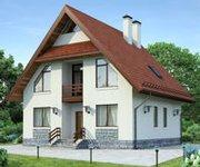 Проект дома ГБ-208 из газосиликатных блоков, площадь 208 кв.м - вид 1