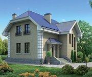 Проект кирпичного дома К-140, 140кв.м. - вид 1