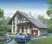 Проект кирпичного дома К-210, площадь 210 кв.м - вид 1