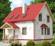 Проект каркасного дома КЩ-110, 110 кв м - вид 1